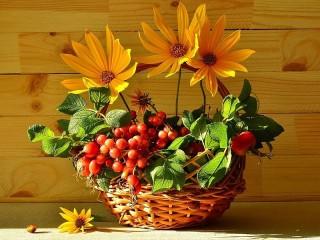 Собирать пазл Still life with rudbeckia онлайн