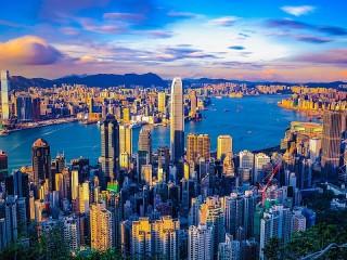 Собирать пазл The sky over Hong Kong онлайн