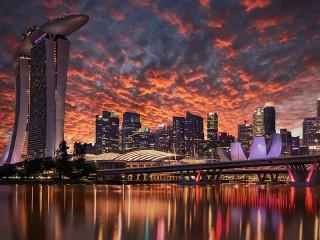 Собирать пазл The Sky Of Singapore онлайн
