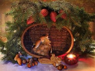 Собирать пазл Christmas still life онлайн