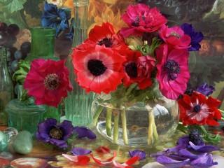 Собирать пазл Fallen petals онлайн