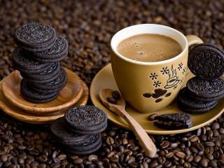Собирать пазл Oreo and coffee онлайн