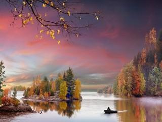 Собирать пазл Fall colors онлайн