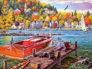 Собирать пазл The fall season онлайн