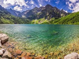 Собирать пазл Lake Morske-Oko онлайн