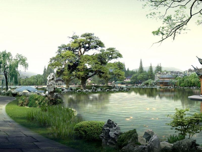 Rompecabezas Recoger rompecabezas en línea - Lake Japan