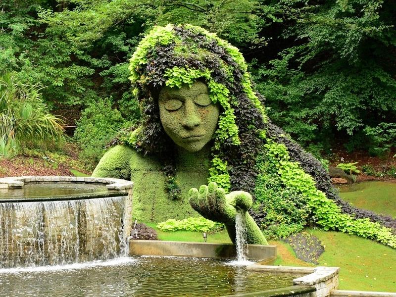 Rompecabezas Recoger rompecabezas en línea - Park sculpture