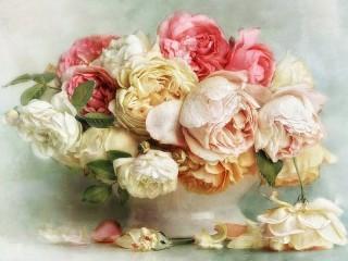 Собирать пазл Lush flowers онлайн