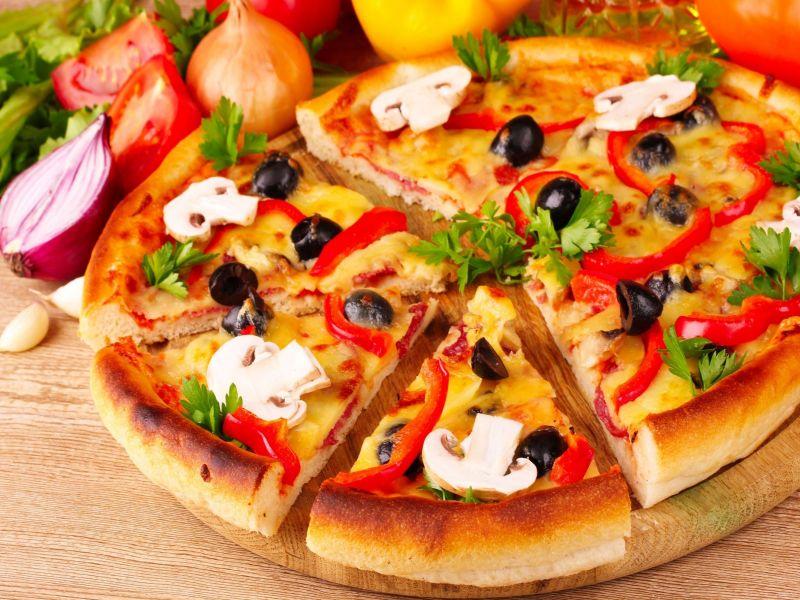 Rompecabezas Recoger rompecabezas en línea - Pizza with mushrooms