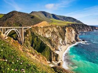 Собирать пазл California coast онлайн