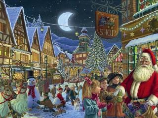Собирать пазл The gifts from Santa онлайн