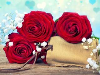 Собирать пазл Gift and flowers онлайн