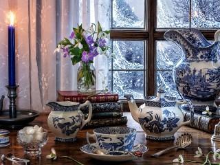 Собирать пазл Snowdrops and snow онлайн