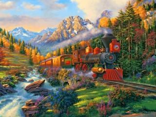 Собирать пазл Train онлайн