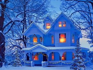 Собирать пазл Holiday lights онлайн
