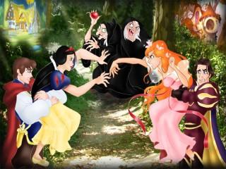 Собирать пазл Quarrel of princesses онлайн