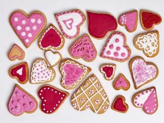 Собирать пазл Gingerbread-Valentines онлайн