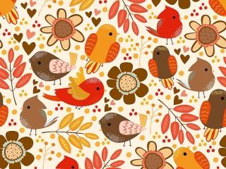 Собирать пазл Birds flowers онлайн