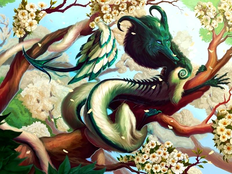Rompecabezas Recoger rompecabezas en línea - Pushistiy drakon
