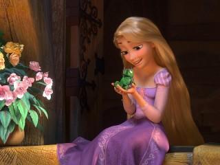 Собирать пазл Rapunzel and Pascal онлайн
