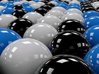 Собирать пазл Colored balls онлайн