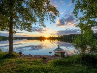 Собирать пазл A river in Finland онлайн