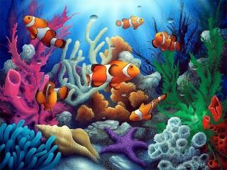 Собирать пазл Fish and corals онлайн