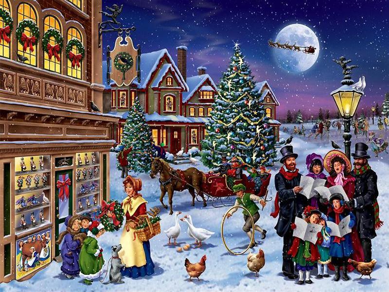 Rompecabezas Recoger rompecabezas en línea - Christmas carol