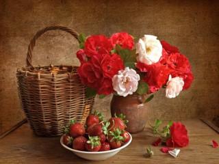 Собирать пазл Roses and Berries онлайн