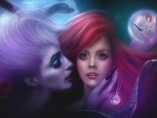 Собирать пазл Mermaid and witch онлайн