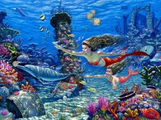Собирать пазл Mermaids 1 онлайн