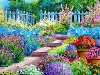 Собирать пазл The garden lover's flower онлайн