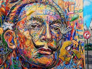 Собирать пазл Dali fait le mur онлайн