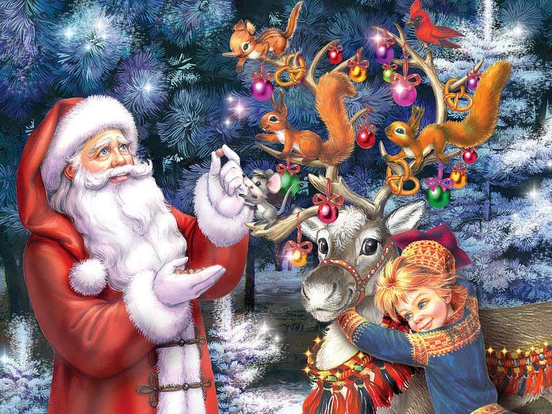 Rompecabezas Recoger rompecabezas en línea - Santa and elf