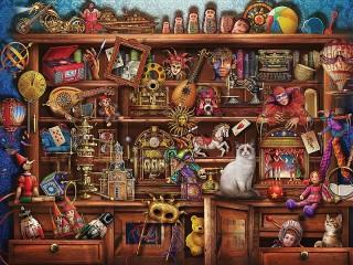 Собирать пазл Closet with toys онлайн