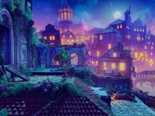 Собирать пазл Lilac city онлайн