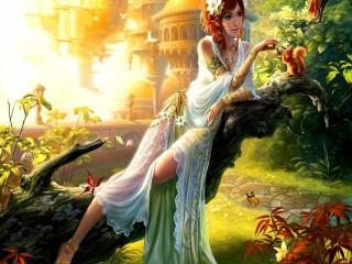 Собирать пазл The fairy world онлайн