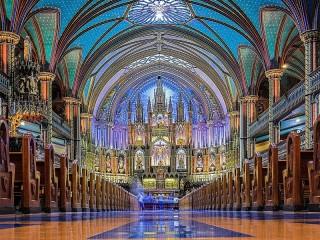 Собирать пазл The Cathedral in Montreal онлайн