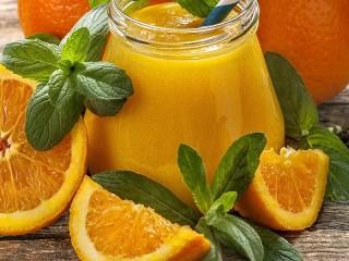 Собирать пазл Juice with mint онлайн