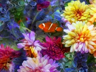 Собирать пазл Among the flowers онлайн
