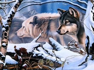 Собирать пазл A pack of wolves онлайн