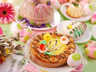 Собирать пазл Tortik na Pashu онлайн