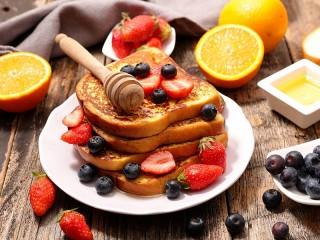 Собирать пазл Toast with honey онлайн