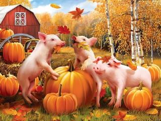 Собирать пазл Three little pigs онлайн