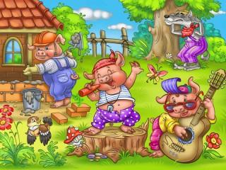 Собирать пазл Three little pigs 1 онлайн
