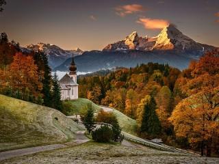 Собирать пазл The Church in Bavaria онлайн