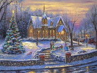 Собирать пазл Church in winter онлайн