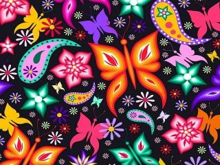 Собирать пазл Flowers and butterflies онлайн