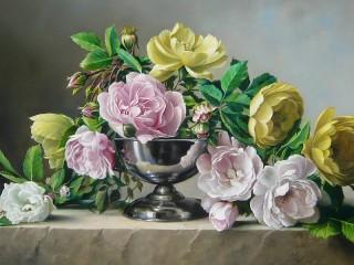 Собирать пазл Flowers in a vase онлайн