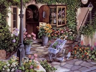 Собирать пазл Flower shop 1 онлайн